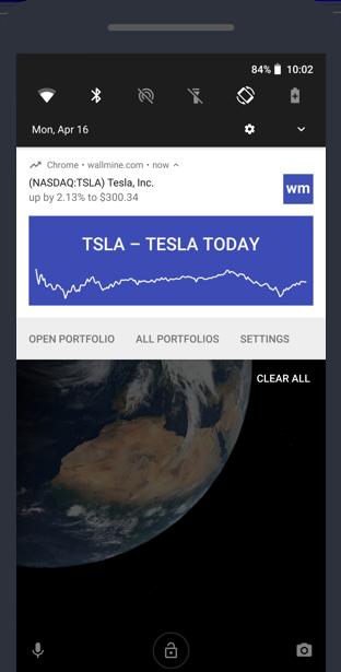 Stock portfolio tracker | wallmine
